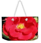 Vibrant Red Rose Weekender Tote Bag