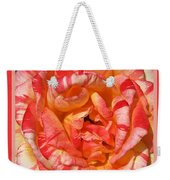 Vibrant Two Toned Rose With Design Weekender Tote Bag