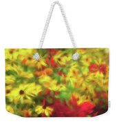 Vibrant Yellow Daisies And Red Garden Flowers Weekender Tote Bag