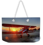 Vicky Benzings 1942 Boring Stearman At Livermore Weekender Tote Bag
