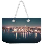 Victoria British Columbia City Lights View From Cruise Ship Weekender Tote Bag
