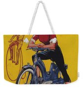 Victoria Vicky Iv - Motorcycle - Vintage Advertising Poster Weekender Tote Bag