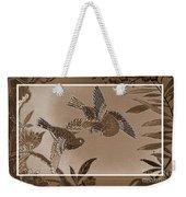 Victorian Birds In Sepia Weekender Tote Bag
