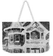 Victorian Christmas Black And White Weekender Tote Bag