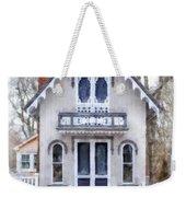 Victorian Cottage Watercolor Weekender Tote Bag