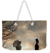 Victorian Couple Parting  Weekender Tote Bag