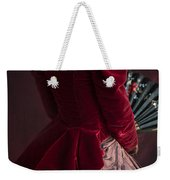 Victorian Lady In A Red Bussle Ensemble Weekender Tote Bag