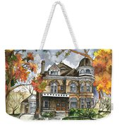 Victorian Mansion Weekender Tote Bag