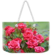 Victorian Rose Garden - Digital Painting Weekender Tote Bag