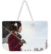 victorian woman with parasol in 19th century London  Weekender Tote Bag