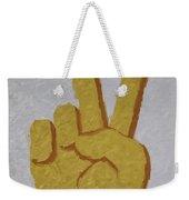 #victory Hand Emoji Weekender Tote Bag