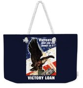 Victory Loan Bald Eagle Weekender Tote Bag