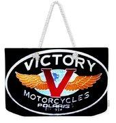Victory Motorcycles Emblem Weekender Tote Bag