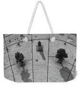 View From A Church Tower Monochrome Weekender Tote Bag