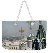 View From A Window Of The Moscow School Of Painting Weekender Tote Bag by Sergei Ivanovich Svetoslavsky