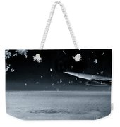 The View From Airplane Bw Weekender Tote Bag