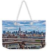 View From Brooklyn Bridge Weekender Tote Bag