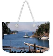 View From Buchart Gardens Weekender Tote Bag