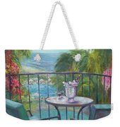 View From The Balcony Weekender Tote Bag