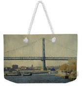 View From The Battleship Weekender Tote Bag by Trish Tritz