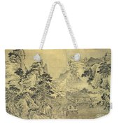 View From The Keyin Pavilion On Paradise - Baojie Mountain Weekender Tote Bag by Wang Wen