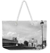 View From The Louvre In Black And White Weekender Tote Bag