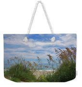 View From The Outer Banks Dunes Weekender Tote Bag