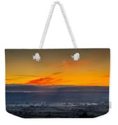 View From The Top Of Glastonbury Tor At Sunrise Weekender Tote Bag