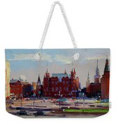 View From The Window Of The Hotel Metropol. Moscow. Manezhnaya Square. Weekender Tote Bag