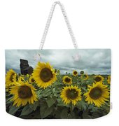 View Of A Field Of Sunflowers Weekender Tote Bag