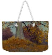 View Of A Harbor By Charles Francois Lacroix Weekender Tote Bag