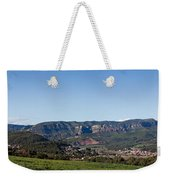 View Of A Village In Valley, Santa Weekender Tote Bag