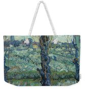 View Of Arles, Flowering Orchards Weekender Tote Bag