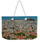 View Of Athens, Greece, From The Parthenon Weekender Tote Bag