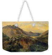View Of Bagneres De Luchon. Pyrenees Weekender Tote Bag