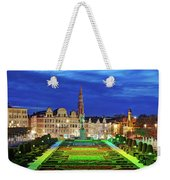 View Of Brussels From Jardin Du Mont Des Arts Weekender Tote Bag by Barry O Carroll