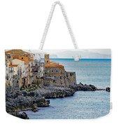 View Of Cefalu Sicily Weekender Tote Bag