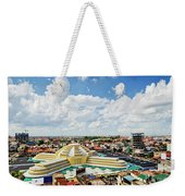 View Of Central Market Landmark In Phnom Penh City Cambodia Weekender Tote Bag