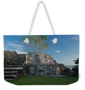 View Of Cerros Maya Ruins At Cerros Weekender Tote Bag