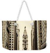 View Of Cityhall From Broad Street In Philadelphia Weekender Tote Bag