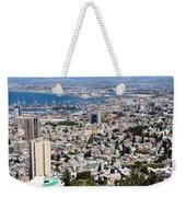 View Of Haifa Weekender Tote Bag