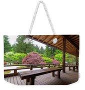 View Of Japanese Garden From The Veranda Weekender Tote Bag