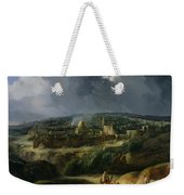 View Of Jerusalem From The Valley Of Jehoshaphat Weekender Tote Bag by Auguste Forbin