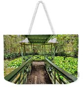 View Of Lily Pads From Gazebo By Kaye Menner Weekender Tote Bag