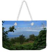 View Of Mauna Kahalewai West Maui From Keokea On The Western Slopes Of Haleakala Maui Hawaii Weekender Tote Bag