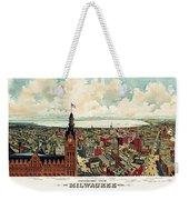 View Of Milwaukee 1898 Weekender Tote Bag