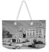 View Of Montgomery County Courthouse From The Southside In Black Weekender Tote Bag