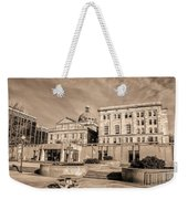View Of Montgomery County Courthouse From The Southside In Sepia Weekender Tote Bag