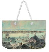 View Of New York From Brooklyn Heights Ca. 1836, John William Hill Weekender Tote Bag