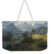 View Of Oylo Farm, Valdres Weekender Tote Bag